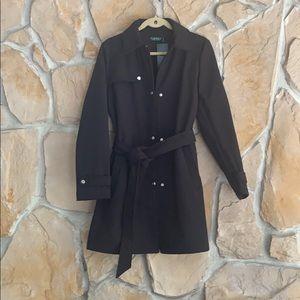 Ralph Lauren Black Trench coat fleece lined